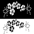 30*17CM Reflective Flower Car Stickers Car Cover Front Bumper Scratches Stickers Inerior Decoration cars Accessories New 2017