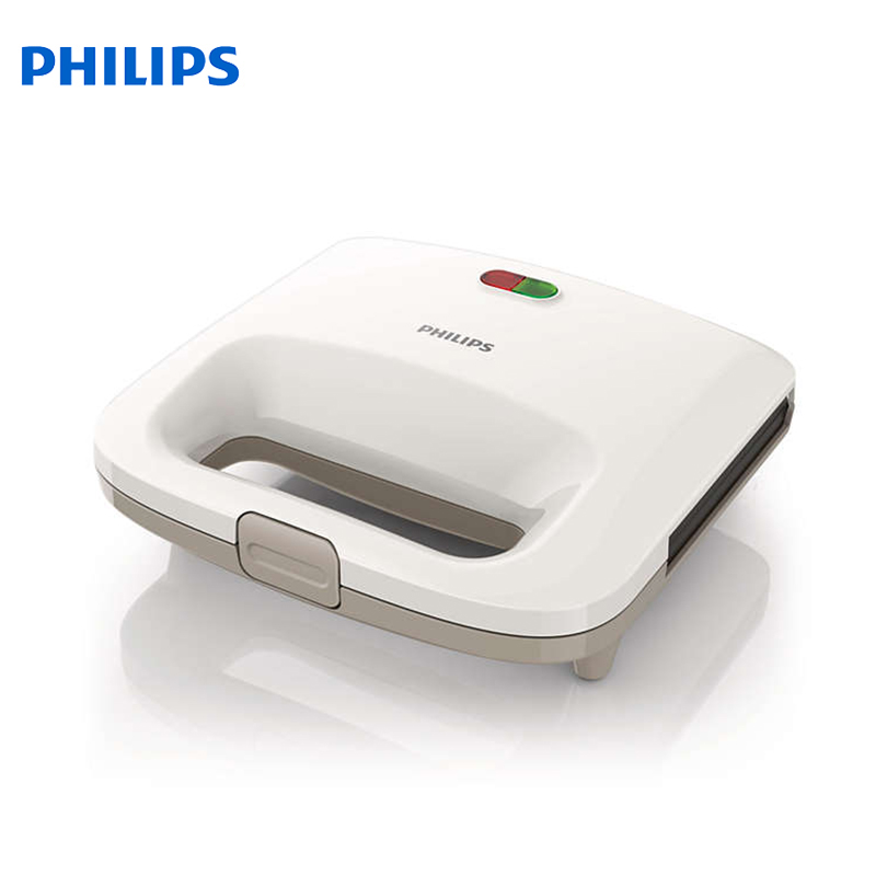 Sandwich Makers Philips bread Household Baking 2 Slices Slots for Breakfast toast machine automatic zipper cutting sliced toast mold white coffee