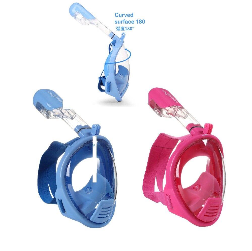 Livraison gratuite! Enfants snorkeling masque plongée masque nez respiration plongée miroir ensemble anti-brouillard snorkeling masque XS enfant 2 modèles