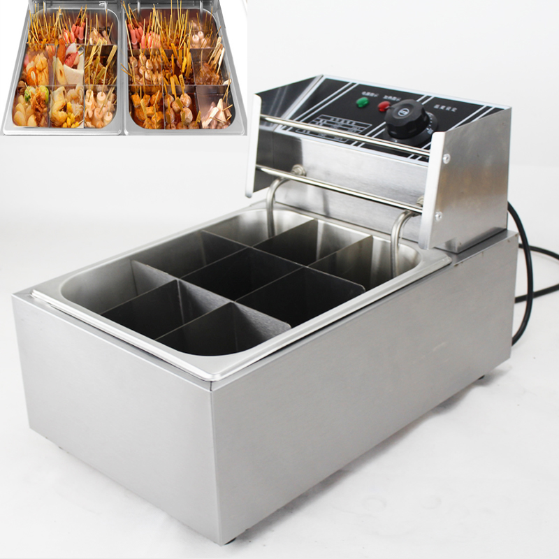 Oden machine 9 commercial cooking stove Malatang Chuanchuan Xiang fish Kanto snack equipment electric boiler free by dhl 2pc electric box 6 basket commercial stove pasta boiler noodles cooking tank stainless malatang machine with drain