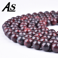 Asingeloo Natural Dragon Bloodstone Red Brecciated Jaspers Stone Loose Beads 4/6/8/10mm Fit DIY Beads For Jewelry Making