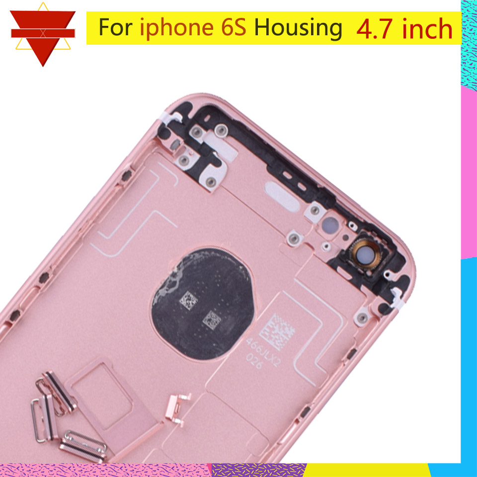 Image 3 - Original quality For iPhone 6S Back Housing Battery Cover Rear Door Case Middle Chassis Replacement For USA or Euro VersionMobile Phone Housings & Frames   -