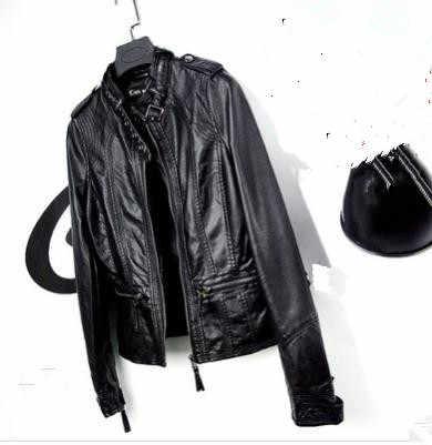 S/6Xl Womens Leather Jackets Large Size Spring Autumn  Motorcycle Jacket Short Black Personality Female Pu Leather Coats K1017