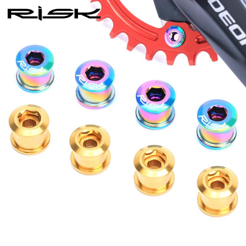 "5 Standard Chrome steel Chain Ring Bolt Nut Set 4 /""Single/"" Crankset Fixie M8"