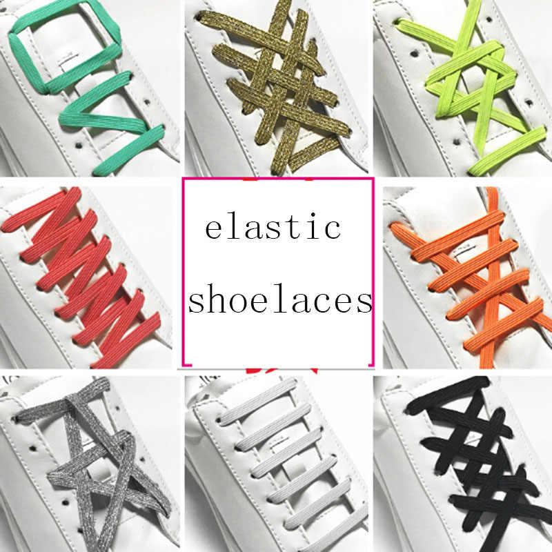 1 คู่ 100 ซม. เชือกผูกรองเท้ายืดล็อคไม่มี Tie Lazy Shoelaces รองเท้าผ้าใบยืดหยุ่นยางรองเท้าเด็ก 12 สี