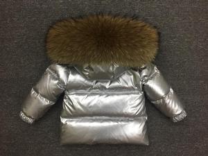 Image 5 - Детская стеганая куртка для девочек, верхняя одежда, детский серебристый костюм для мальчиков и девочек, детская зимняя пуховая куртка, парка для девочек, комплект одежды