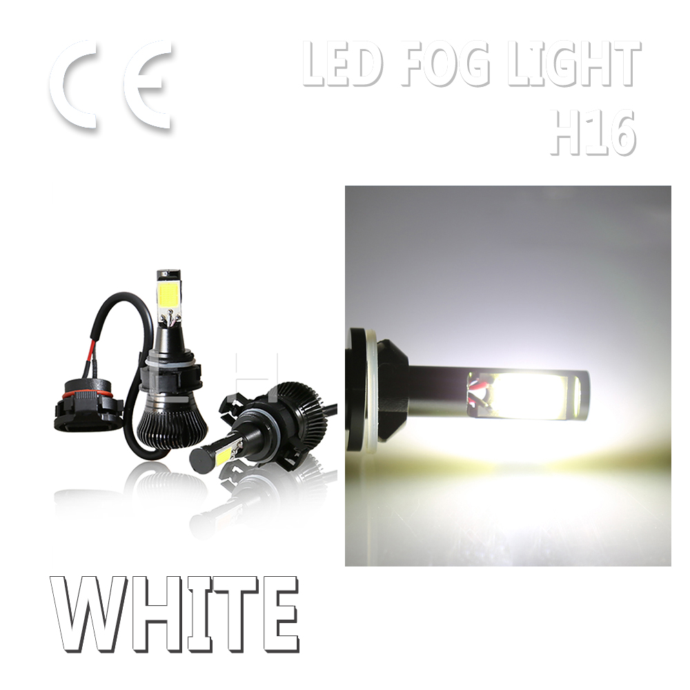 <font><b>LED</b></font> H16 <font><b>5202</b></font> Fog DRL Driving Light Bulb 5201 PS24W Flash And Stay White