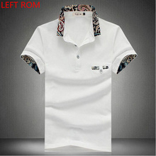 2018 New Polo Brand Men Clothes Cotton Short Sleeve Pure color Print Polo Shirt Men Slim Fit Polos Plus size Polo Shirts