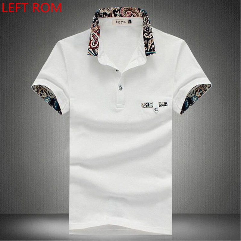 2018 New   Polo   Brand Men Clothes Cotton Short Sleeve Pure color Print   Polo   Shirt Men Slim Fit   Polos   Plus size   Polo   Shirts