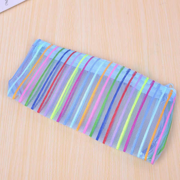 1 шт (случайный) Красочные линии карандаши сумки милые плюшевые карандаши чехол 2016 чехол большой емкости школьные принадлежности канцелярские ручки коробка