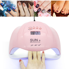 I'M GIRL SUN X 54W Nail Dryer UV LED Lamp LCD Display 36 LEDs Dryer Lamp for Curing Gel Polish Auto Sensing Nail Manicure Tool