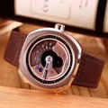Бесплатная доставка горячей продажи sevenfriday P3-01 часы мужчины импортированы кварцевый механизм кожаный ремешок серебряный корпус часов