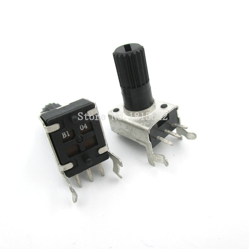 5PCS/LOT RV09 WH09 B100K B104 Potentiometer Adjustable Resistance 12.5mm Shaft 3 Pins 0932 Horizontal Adjustable Trim Pot