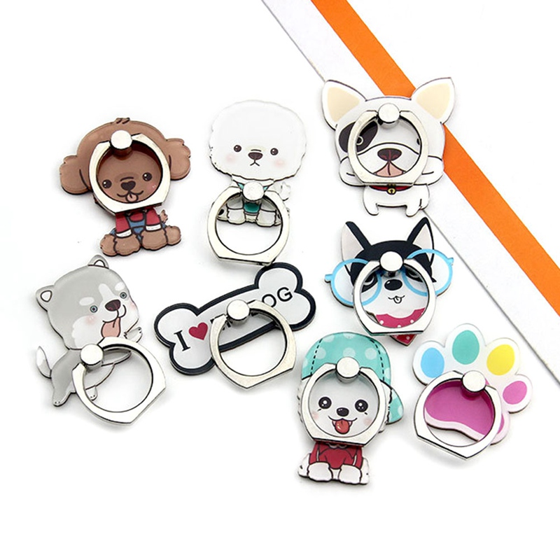 Mobile Phone Stand Holder Cartoon Beauty Lady Finger Ring Smartphone Cute Animal Bear Panda Holder Stand For All Phone