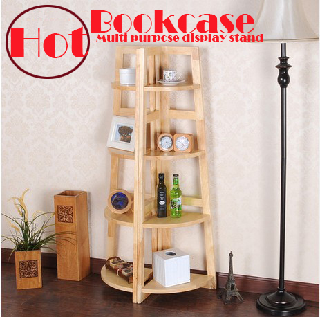 Oak,100% solid wood cabinets,bookcase,corner shelf,Kitchen cabinets,floating book bookshelf,4 layer multi function display racks