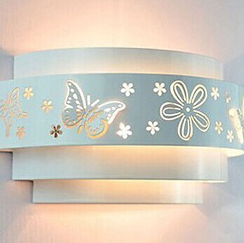 ФОТО 1 Light,Wall Sconces, Modern LED Wall Lamp Light For Home Bedroom Butterfly Flower Pattern Free Shipping,AC,E27