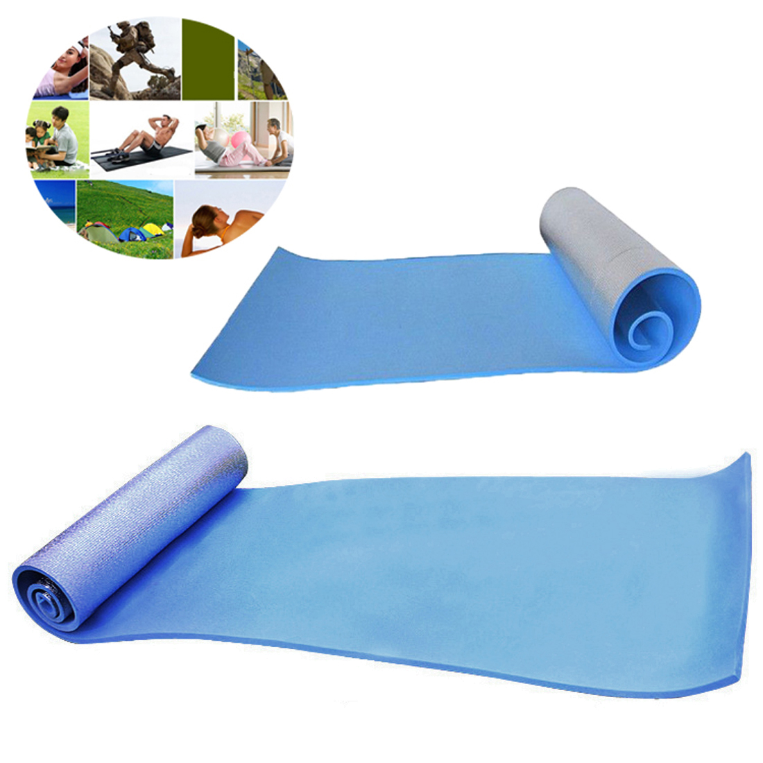 One Sided Aluminum Moisture Yoga Mat Outdoor Camping