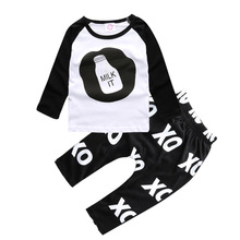 Baby Boys Clothes Set 2017 New Autumn Newborn Baby Girl Clothing Bottle Letter Printing Long Sleeve