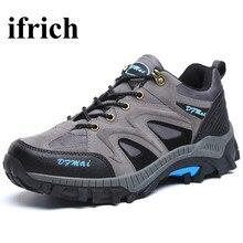 Ifrich ботинки походная Нескользящие Mountain Мужские ботинки весна треккинговые ботинки бренд серый/синий Мужская обувь армия мужские кроссовки походы