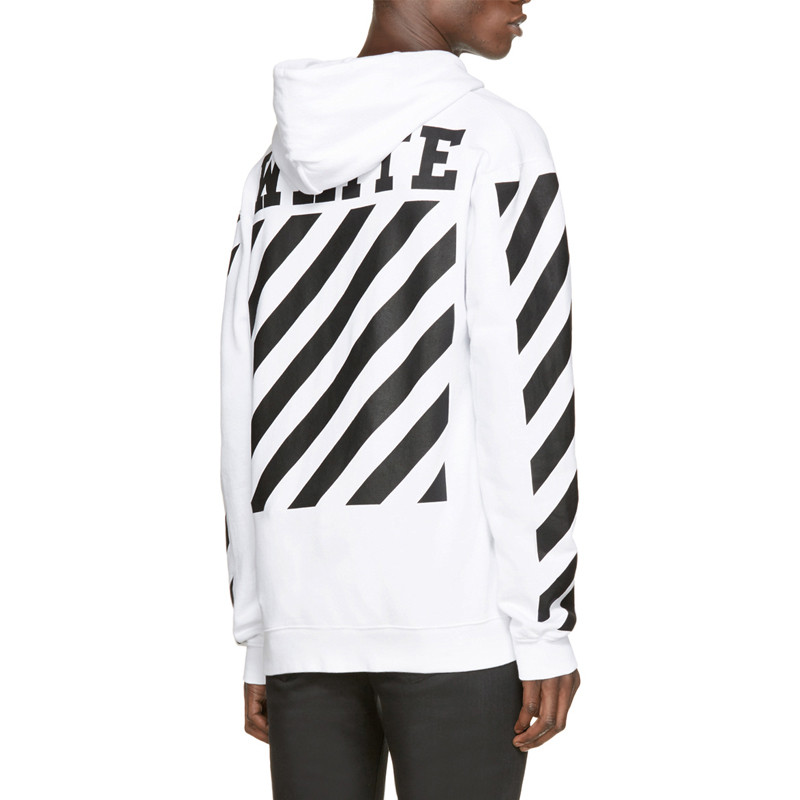 OFF WHITE Hoodie Men Harajuku Brand Sweatshirt Hip hop Oversize ...