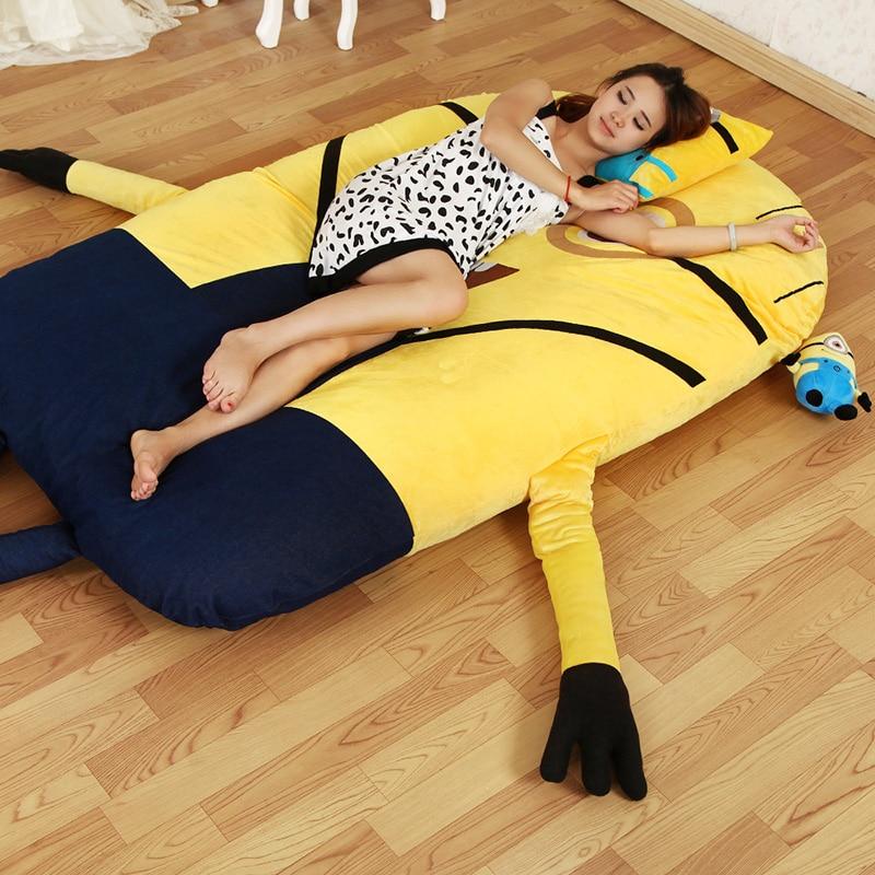 Single Cartoon Minion Mattress Bed Sofa Tatami Cushion