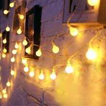 10M 100LEDs 110V 220V Outdoor Warm white LED Ball String Light Christmas Lights Holiday Wedding House party decoration Luces LED цена в Москве и Питере