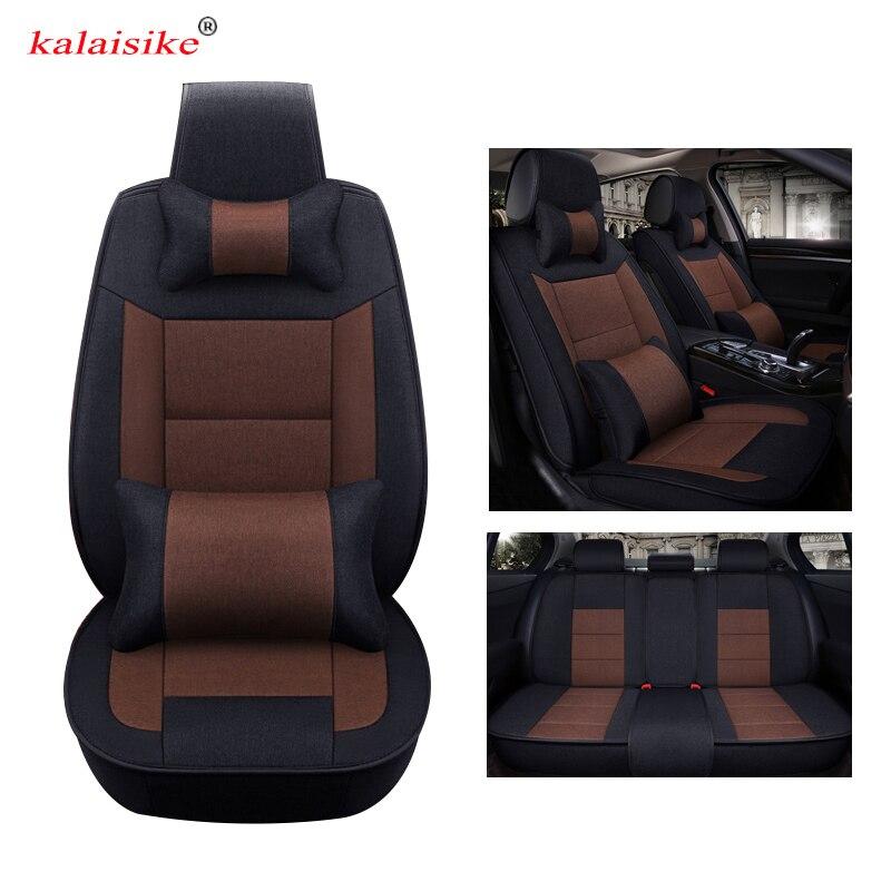 Kalaisike Flax Universal Car Seat covers for Volkswagen all models VW polo golf passat touareg touran Variant magotan JETTA BORA