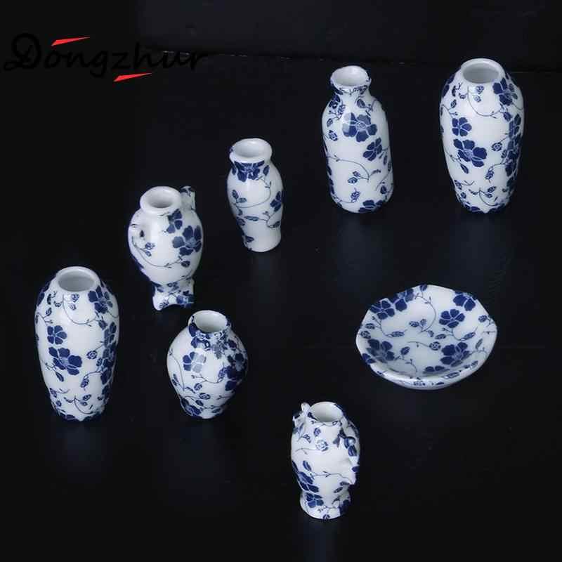 7 шт./компл. Миниатюрный Мини Керамика украшение для вазы миниатюры для кукольного домика 1:12 аксессуары декоративные миниатюрный фарфор