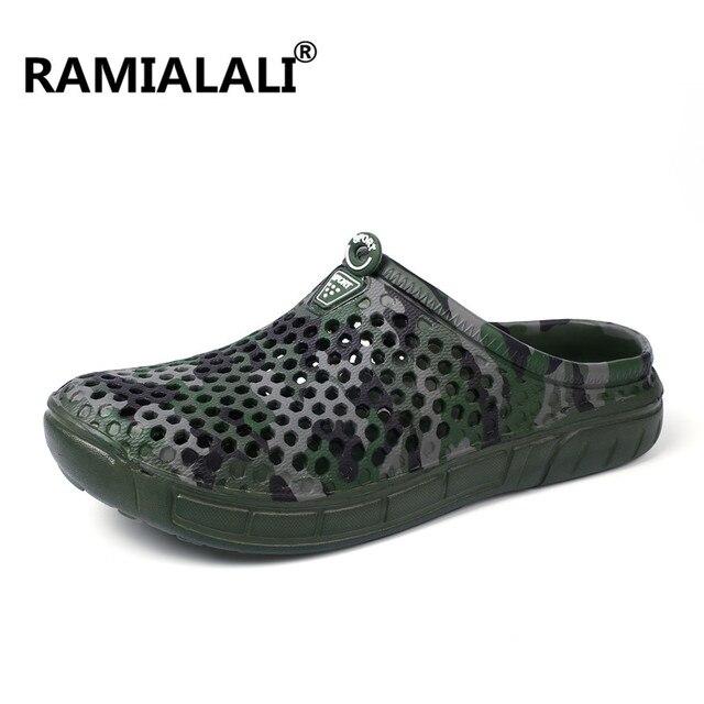 5ff71a6e Ramialali nuevos hombres del verano 2018 lados Zapatos moda casual hombres  planos Flip Flops playa Zapatillas. Sitúa el cursor encima para ...