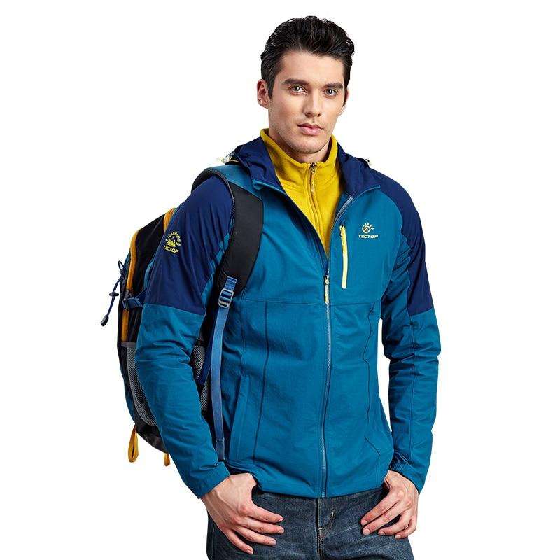 все цены на Rain Quick-Drying Stretch Softshell Jacket Men Sport Jacket Sport Windbreaker Waterproof Windproof Jacket Rain Coat Men Clothing онлайн