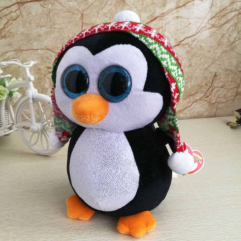 fbf30e1f84b 15cm Ty Original Beanie Boos Penelope Penguin with Hat Plush Toy Stuffed  Animal Doll Kids Toy Cute Birthday Christmas Gift