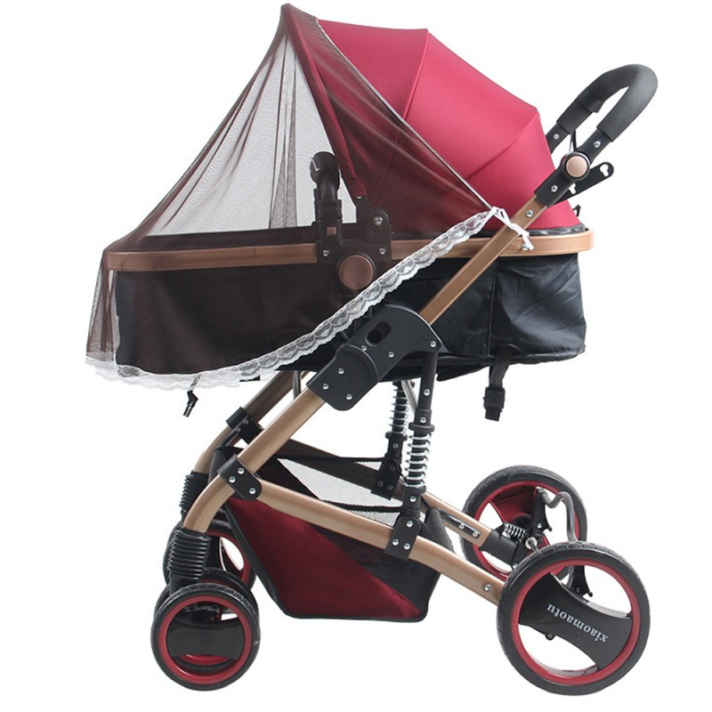New Infants Baby Stroller Pushchair Mosquito Insect Net Safe Mesh Buggy Crib Netting Cart Mosquito Net Pushchair Full Cover Net