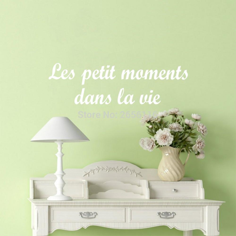 Bedroom wall art quotes - Aliexpress Com Buy French Quote The Small Moments Life Wall Stickers For Living Room Wall Decals Quotes Vinyl Mural Wallpaper From Reliable Wall Sticker