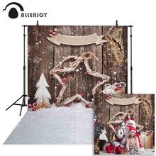 Allenjoy backdrop for photographic studio beautiful snowflake pentagram decoration pine gifts Christmas background photocall