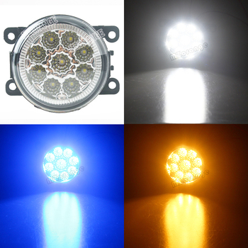 1 ชุดชุดโคมไฟหมอก Super Bright Fog Light สำหรับ Renault Duster Megane 2/3 Fluence Koleos Kangoo 2003-2015 ไฟ Led หมอก