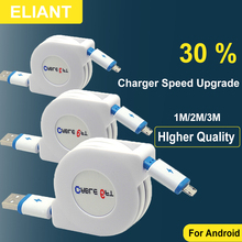 ELINAT Micro USB Cable Fast Charging Mobile Phone Cable Adapter 1m 2m 3m USB Data Charger