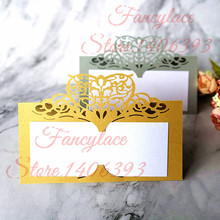 50Pcs Table Cards Laser Cut Heart Seat For Wedding Party Favors Decoration Name Place Crown Card