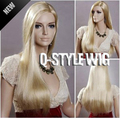 2014 charming NEW Synthetic not Front Lace WIGS, pure blonde color amazing style silk straight soft hair beautiful wigs