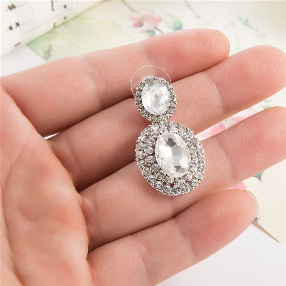 3.6 cm Luxurious Bride Bridemaid Earrings Glam Bridal Jewelry Statement Jewellery Vintage Wedding Earrings Woman Brincos Mujer