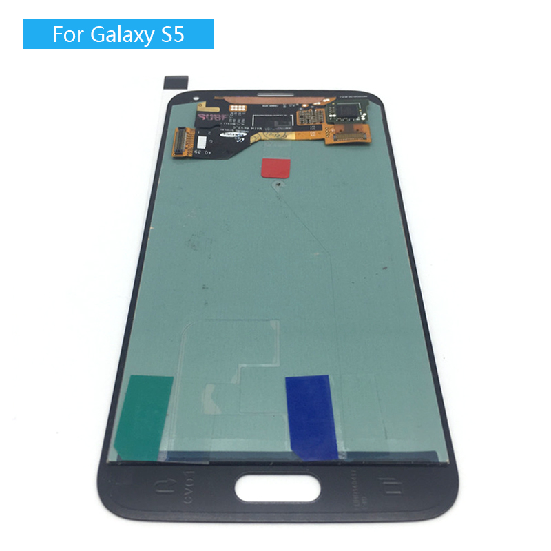 Super Amoled LCD For Samsung Galaxy S5 i9600 G900F G900H G900M LCD Screen+Touch Screen Digitizer Assembly Tested with Sticker