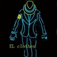 2016ฮิปฮอปelลวดเรืองแสงเสื้อผ้าเสื้อแสงขึ้นกระพริบEqualizer LEDผู้ชาย