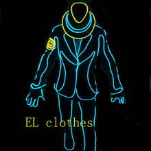 2016 hip hop el wire glowing clothes Shirt Light Up Flashing Equalizer LED T-Shirt Men for Rock Disco DJ hip hop for dancing(China)