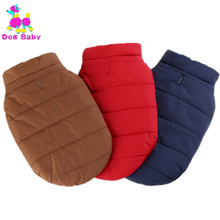 DOGBABY Winter Dog Clothes Cotton Fake Lamb Solid Pet Coat Jacket Puppy Large Dogs Cats Warm Vest Red Bule Coffee Color