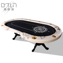 DTLN высококачественные кожаные перила nautical вилла Texas Hold'em стол роскошный изысканный деталь чип стол