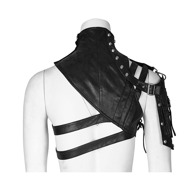 Leather Armor For Men And Women Shoulder Bag Accessories Show Locomotive Party Props 1