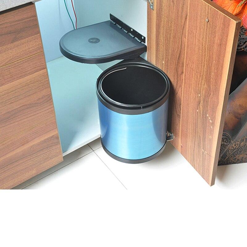 Geekinstyle 8L-12L poubelle pivotante en acier inoxydable poubelle de cuisine avec Film bleu