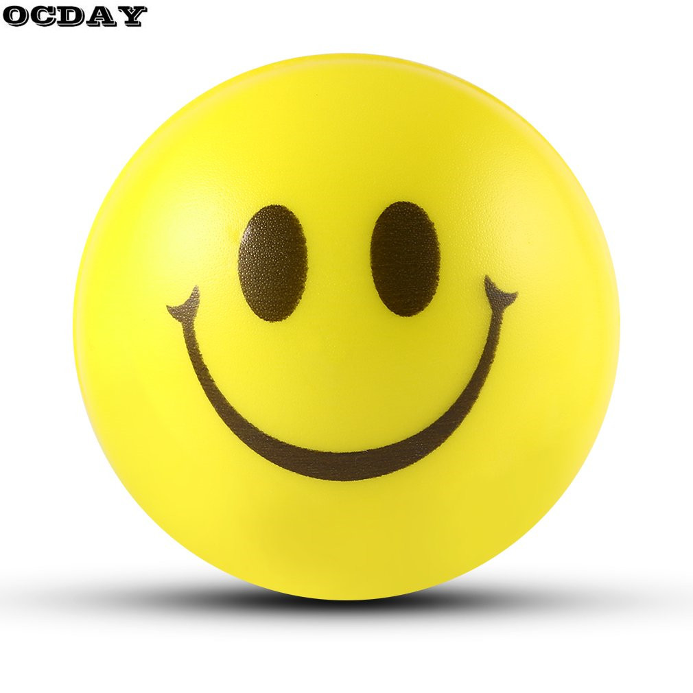 12PCS Smile Face Stress Relief Sponge Foam Balls Hand Strength Squeeze Ball Children Adult Hand Exercise Toy Balls Toys For Kids