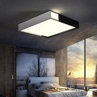Creative Modern LED Ceiling Chandelier For Living Study Room Bedroom Black And White Square LED Ceiling