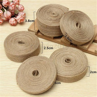 Natural Hessian Jute Burlap Ribbon Rusitc Christmas Wedding Gift Wrapping Manufacturer Sale 7 Sizes Can Choose
