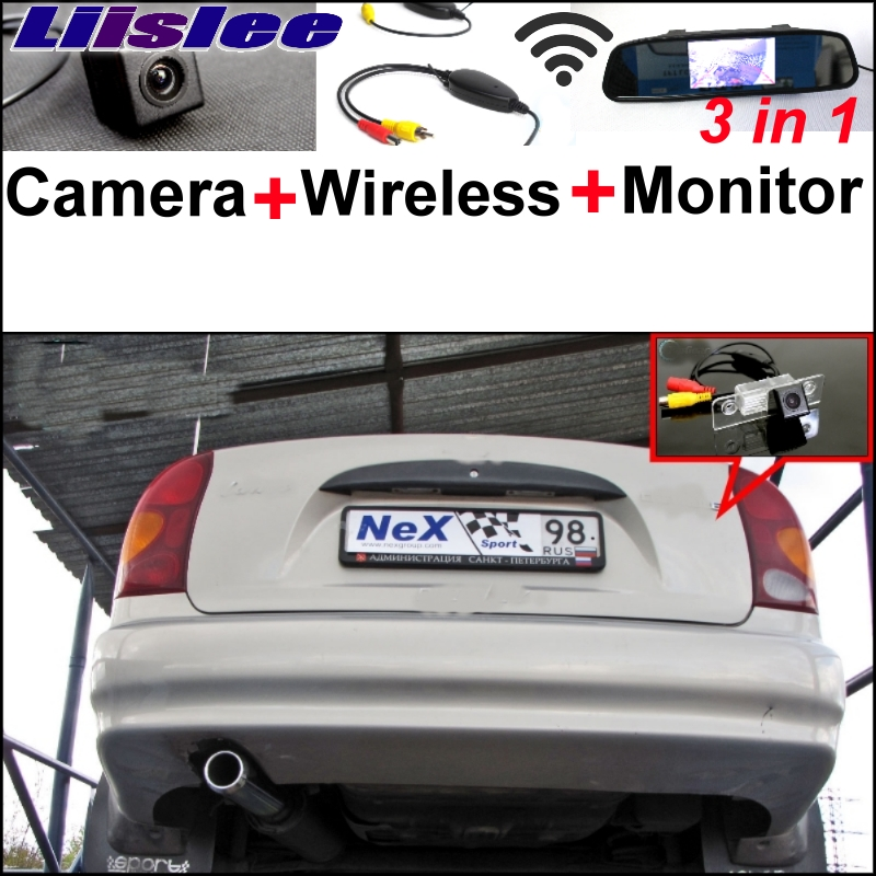 Liislee For Chevrolet Lanos Sens / Chance Special WiFi Camera + Wireless Receiver + Mirror Screen Monitor Backup Parking System 3 in1 special rear view camera wireless receiver mirror monitor back up parking system for citroen ds3 ds 3 2009 2015